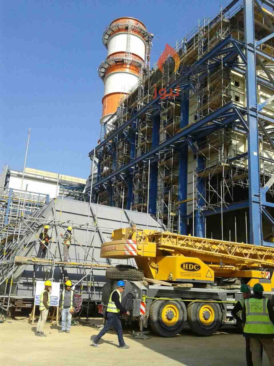 بالصور.. تقدم كبير في تنفيذ المرحلة الثانية من محطة توليد بني سويف وانشاءات المكون البخاري ترتفع بالموقع