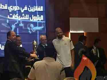 وزير البترول يمنح انربك كأس المركز الاول في دوري قطاع البترول لكرة السلة