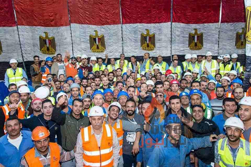 بتروجت تحتفل بتصنيع الحلقة الخرسانية رقم 5068 لمشروع حفر أنفاق قناة السويس بالإسماعيلية