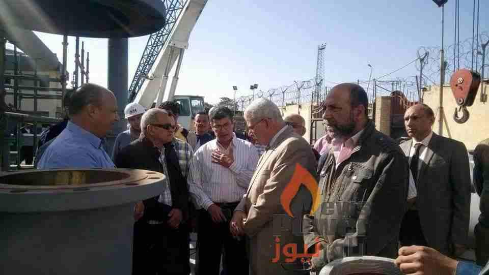 شعبان وقيادات مصر للبترول يتفقدون مستودع بورسعيد للوقوف علي اخر تطورات العمل