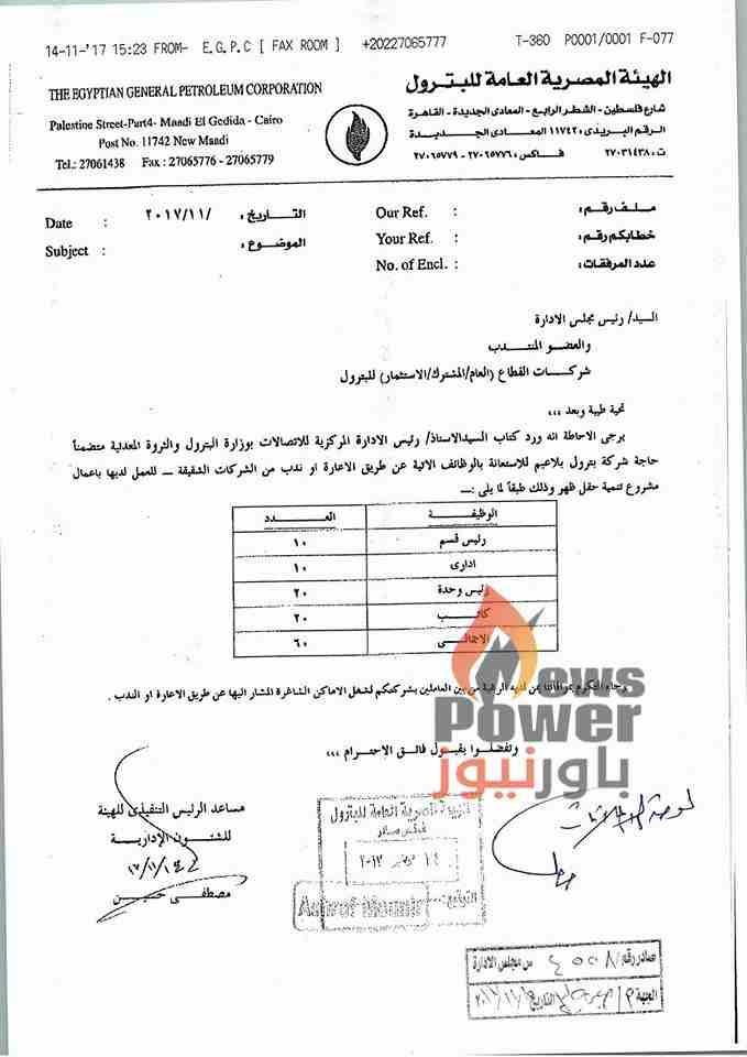 بترول بلاعيم تعلن عن حاجتها لشغل 60 وظيفة بنظام الندب للعمل بحقل ظهر