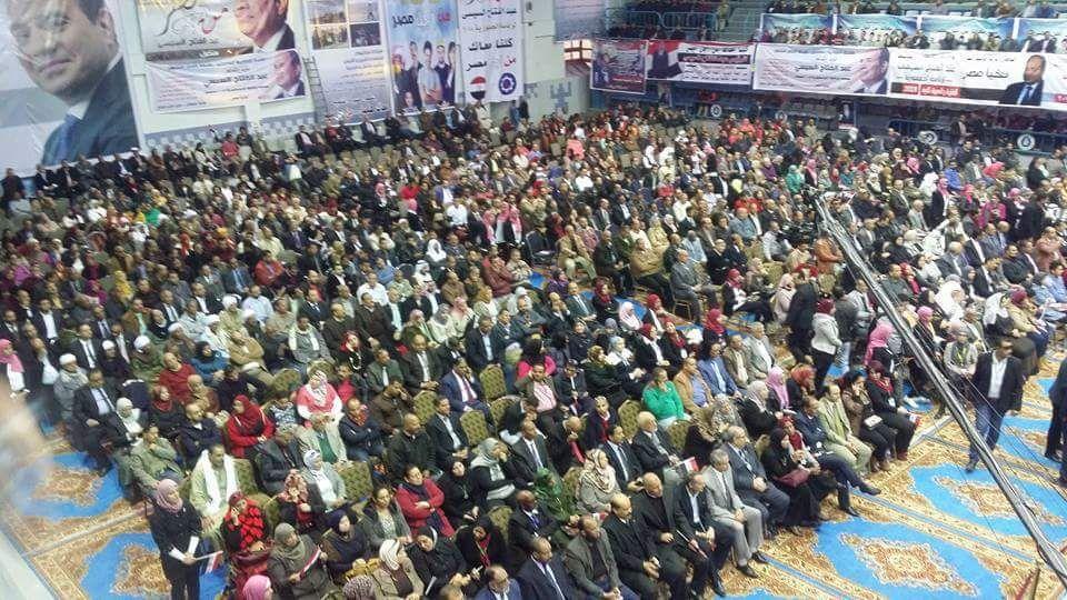 مؤتمر حاشد بنادى شركة النصر للبترول لتأييد الرئيس السيسى لفترة رئاسية ثانية