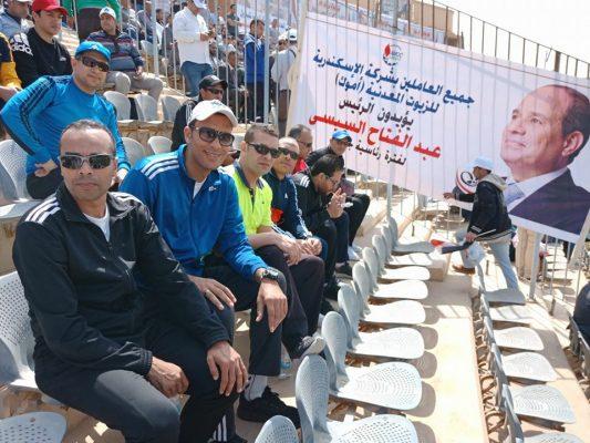 بالصور..قيادات وشباب اموك واللجنة النقابية يحتشدون بقوة في مؤتمر دعم وتأييد الرئيس اليوم