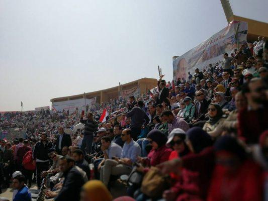 باور نيوز ينشر الصور الاولى لبدء المؤتمر الحاشد لعمال البترول لدعم ترشح السيسى لفترة ثانية