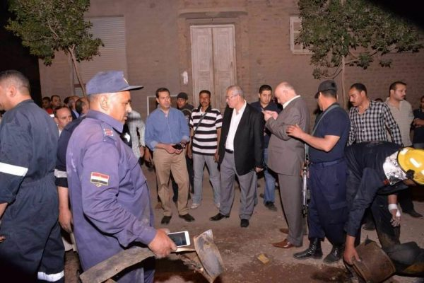 محافظ أسيوط يتفقد موقع انفجار ابنوب ويصدر تعليماته بفتح تحقيق عاجل