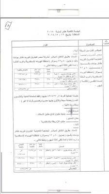 منطقة الاسكندرية تسند بالامر المباشر لشركتى مصر للبترول والتعاون للبترول توريد بنزين وسولار بقيمة مليون و 676 الف جنيه