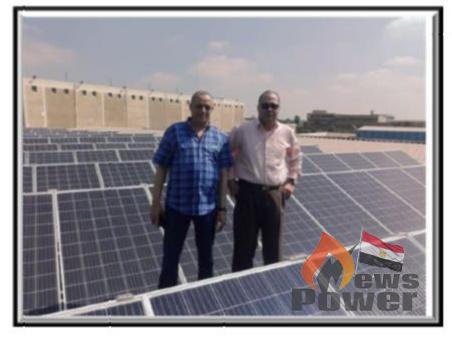افتتاح محطة الطاقة الشمسية بورش شركة البحيرة لتوزيع الكهرباء بحضور المحافظ ورئيس مجلس إدارة الشركة