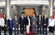 وزيرة الطاقة الاردنية تزور مقر جاسكو وتستمع لشرح لاسلوب ادارة شبكة الغاز بمصر
