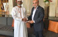 درويش في زيارة سريعة الي سلطنة عمان لتوقيع عقد تأسيس شركة