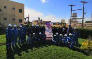 من داخل حقول العلمين .. الحمرا أويل تحتفل بيوم السلامة والصحة المهنية بقيادة الجيولوجى محمد قاسم