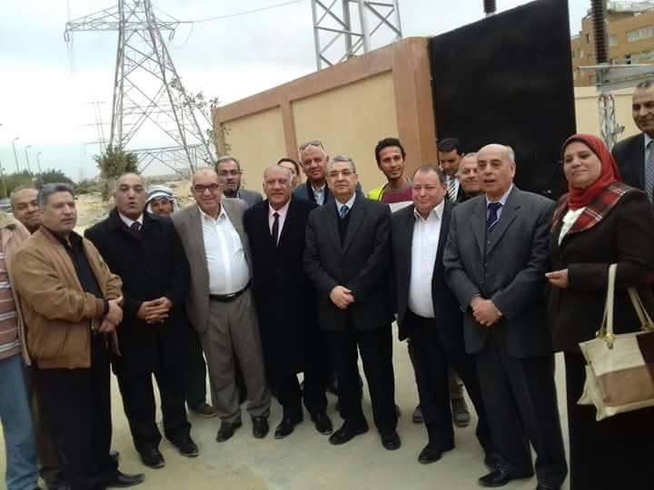 بالصور وزير الكهرباء وقيادات الوزراة يتفقدون سير العمل بمحطة محولات حي الاسمرات