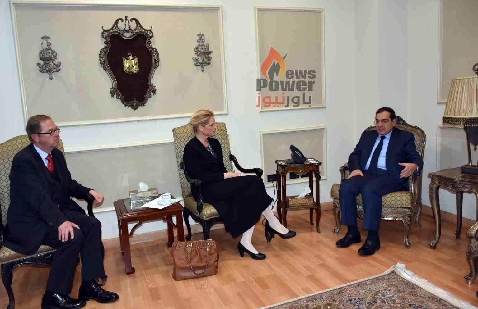 وزير البترول يستعرض مع وفد نرويجى عمل الشركات النرويجية فى مصر والفرص الاستثمارية المتاحة امامها