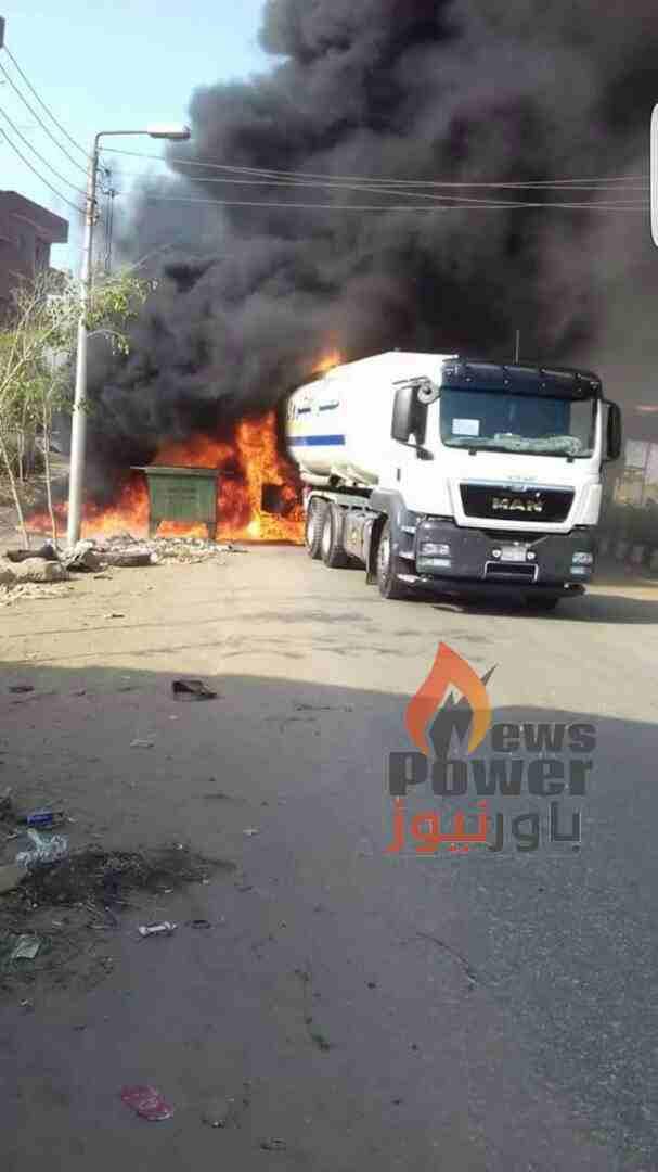 سائق شركة مصر للبترول  احمد ذكي ينقذ مدينة القناطر  من الدمار بعد اشتعال سيارته المحملة بالمواد البترولية