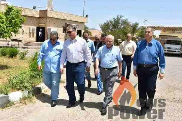 المهندس علاء البطل رئيس عجيبة يقوم باول زيارة ميدانية لموقع حقول الاشرفي لمتابعة سير العمل