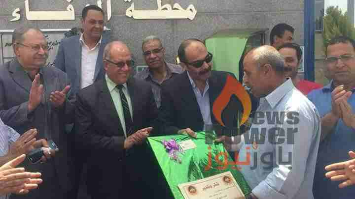 مصر للبترول تكرم السائق البطل أحمد زكي بعد انقاذه مدينة القناطر من خطر النيران