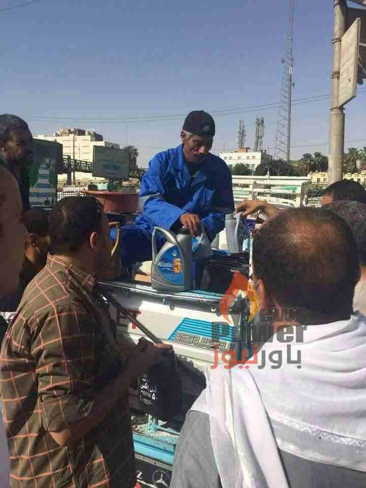 النيل لتسويق البترول تبدأ حملة لترويج منتجات الشركة من الزيوت بمواقف السيارات