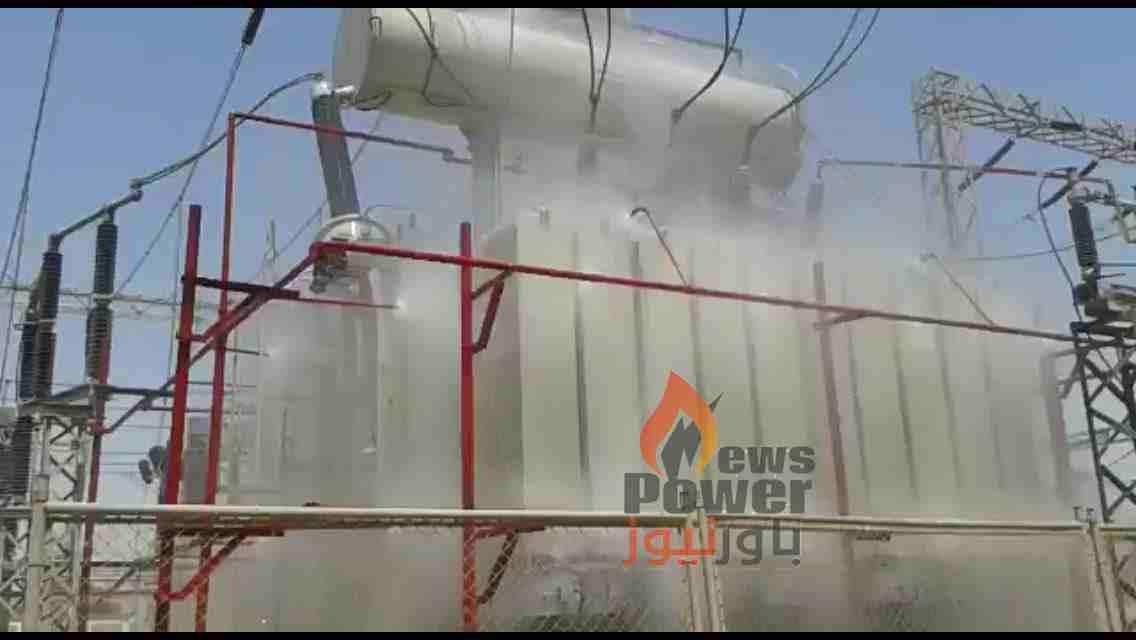 فيديو خاص لـ باور نيوز  .. ميتورى تنتهى من تنفيذ منظومة الحريق بمحطة محولات سمالوط