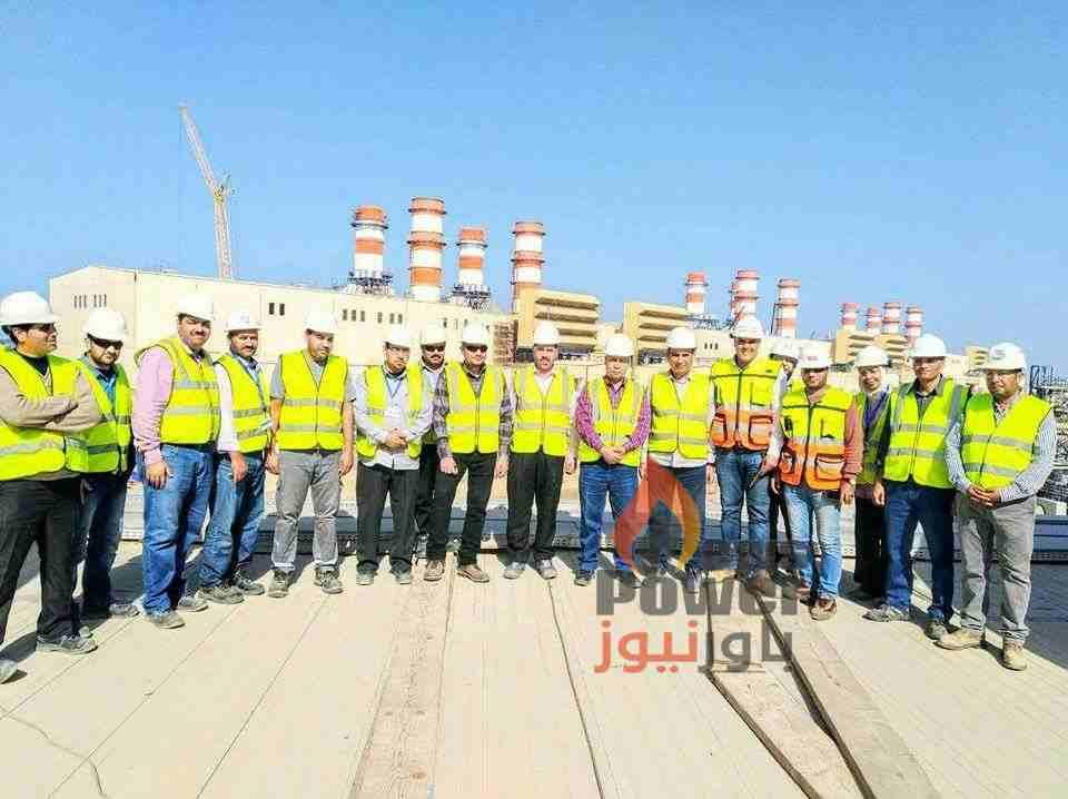 بالصور ..المهندس محمد العبد يتفقد مشروع محطة كهرباء البرلس