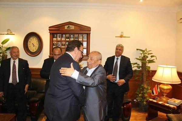 اعضاء قائمة فى حب مصر الفائزة بنقابة المهندسين تزور المهندس طارق النبراوى ويتفقون على العمل سوياً لصالح النقابة والاعضاء