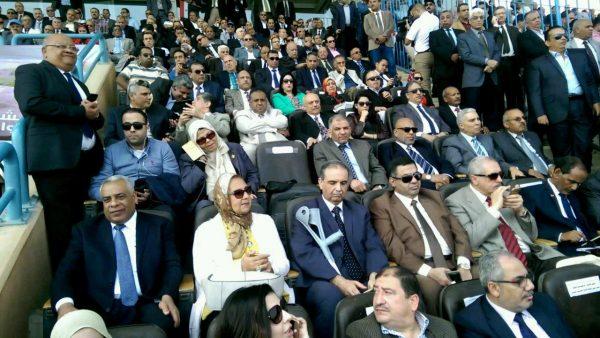 المهندس إبراهيم فتحي رئيس شركة بترو أمير وقيادات الشركة بمؤتمر دعم السيسى اليوم