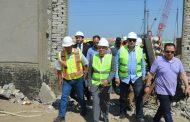 الغضبان وعمر ومسئولو بجسكو يتفقدون اليوم اولى خطوات بدء انشاء محطة معالجة المياه البترولية الملوثة ببورسعيد