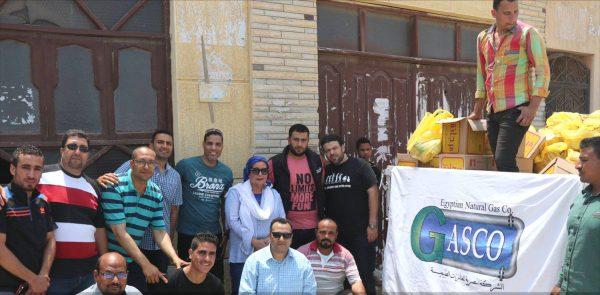 للعام السابع علي التوالي .. جاسكو توزع ١١٠٠ شنطة رمضانية بمدينة الاسكندرية