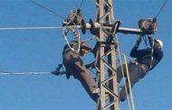 فصل التيار الكهربائي عن بعض مناطق مدينة أبو قرقاص للصيانة