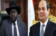 السيسي يؤكد لسلفا كير دعم مصر لإحلال السلام فى جنوب السودان