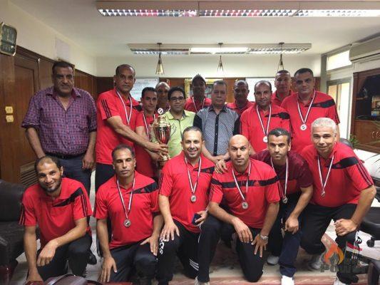 العبد يهنئ فريق وسط الدلتا لكرة القدم بعد حصوله علي المركز الثاني ببطولة الجمهورية للشركات