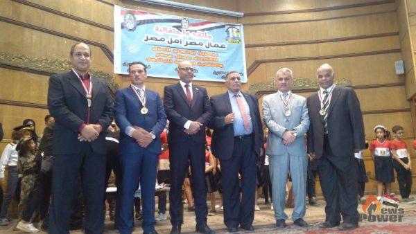 بالصور .. احتفالية كبرى للنقابة العامة للبترول فى اتحاد عمال مصر