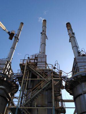 العامرية للتكرير تنتهى من تركيب اجهزة الرصد البيئى للملوثات أعلى مداخن جهاز التحسين والعطريات تنفيذاً لتوجيهات وزير البترول