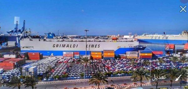ميناء بورسعيد يرفض نزول السيارات من السفن لامتلاء الميناء بالسيارات وعدم وجود اماكن للتخزين