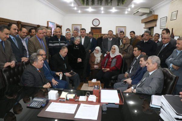 بالصور ... لحظات استقبال المحاسب محمد السيسى ووداع المهندس حسام الدين عفيفى بشركة جنوب القاهرة لتوزيع الكهرباء