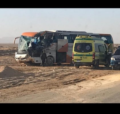عاجل .. تحرك رئيس نقابة البترول لموقع حادث حافلة بدر الدين