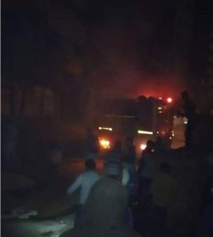 احتراق محول كهرباء بقرية ميت نما بالقليوبية .. والحماية المدنية تسيطر على النيران