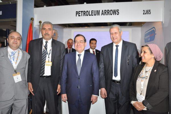 وزير البترول يزور جناح شركة السهام البترولية فى معرض ايجبس 2019