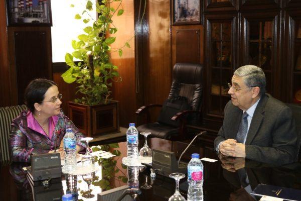 وزير الكهرباء يلتقي نائب وزير الخارجية الرومانى لبحث سبل التعاون في مشروعات الطاقة المتجددة