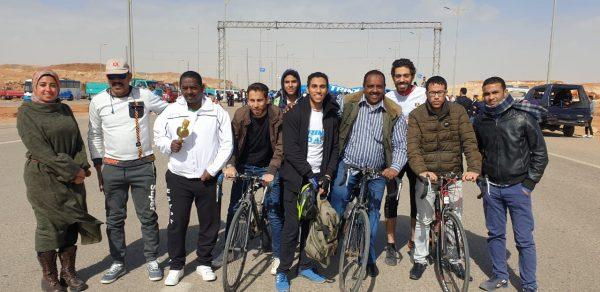 بالصور .. انطلاق ماراثون الدراجات من الكاتدرائية إلى المسجد بالعاصمة الإدارية