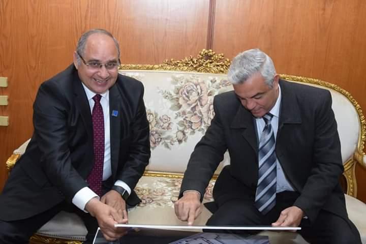مدكور يستعرض مع رئيس جامعة المنوفية انشاء كلية تكنولوجية للطاقة علي نفقة الشركة لخدمة ابناء المجتمع المنوفي