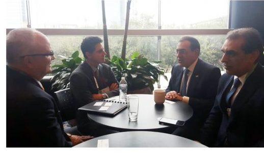 الملا يلتقى العديد من الشركات العالمية وممثل البنك الدولى على هامش ملتقى سيرا لبحث تمويل خطوط نقل غاز شرق المتوسط لمحطات الإسالة المصرية