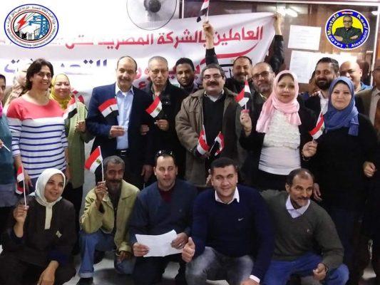 العاملون بقطاع الخطوط منطقة الاسكندرية يشاركون فى الاستفتاء الدستورى لليوم الثالث