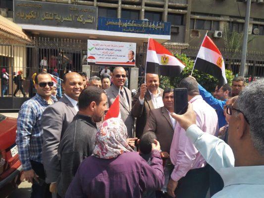 غرفة عمليات وزارة الكهرباء تتابع حشود العاملين للمشاركة فى استفتاء التعديلات الدستورية لليوم الثالث