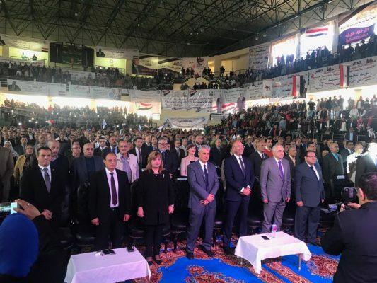 بالصور ..  نقابة البترول تنظم مؤتمراً جماهيرياً لدعم التعديلات الدستورية بالاسكندرية