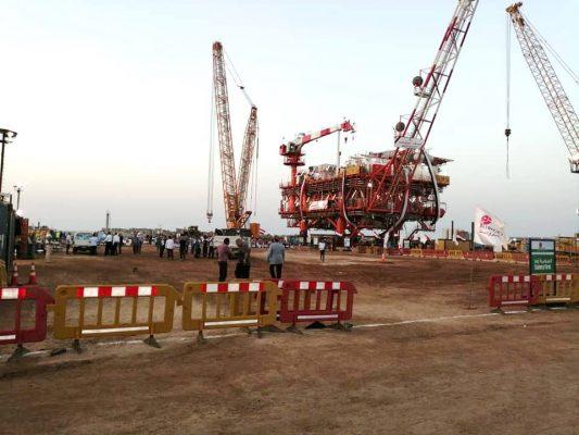 الانتهاء من رفع منصة مشروع غرب بلطيم اليوم لإضافة 450 مليون قدم مكعب غاز يومياً
