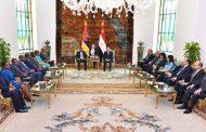 الرئيس عبد الفتاح السيسى يستقبل رئيس موزمبيق بقصر الاتحادية