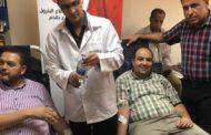 الواحة للبترول تشارك في مبادرة التبرع بالدم .. وحراز اول المتبرعين