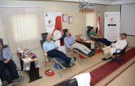 صان مصر تشارك بفاعلية فى مبادرة قطاع البترول للتبرع بالدم