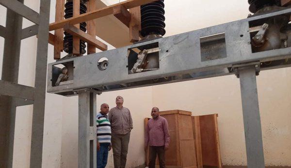 رئيس قطاع شبكات المنيا يتفقد محطة محولات أسمنت أسيك جهد 66 / 11 KV تمهيداً لاطلاق التيار
