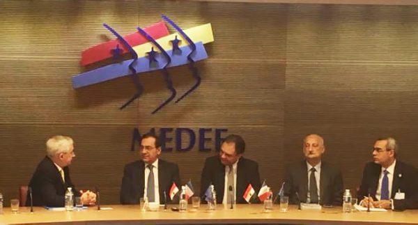 الملا يبحث فى فرنسا مع شركتى توتال واكسنس توسع انشطتهما فى مصر والدخول فى مناطق جديدة بغرب المتوسط والبحر الاحمر والمشاركة فى خطة البتروكيماويات