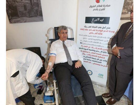 بتروجت تشارك بقوة في مبادرة التبرع بالدم